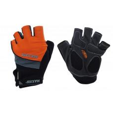 Luva meio dedo Maxxis Gel Protection - laranja/cinza/preto
